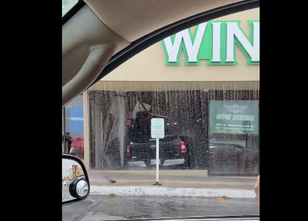 Jennifer Ortiz Zamarripa captured the aftermath from a truck that drove into a Wing Stop on the city's West Side Thursday afternoon.