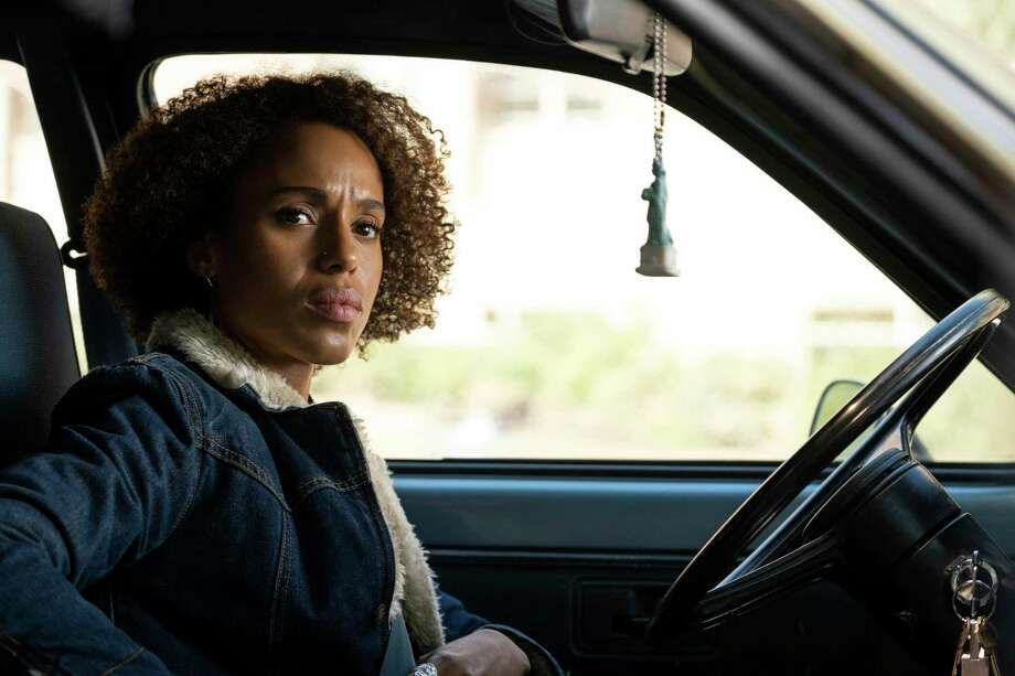"This image released by Hulu shows Kerry Washington in a scene from ""Little Fires Everywhere."" Washington was nominated for an Emmy Award for outstanding lead actress in a limited series or movie on Tuesday, July 28, 2020. (Erin Simkin/Hulu via AP) Photo: Erin Simkin / Hulu"