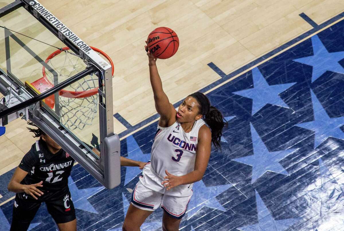 Former UConn star Megan Walker made her WNBA debut with the Liberty earlier this week.
