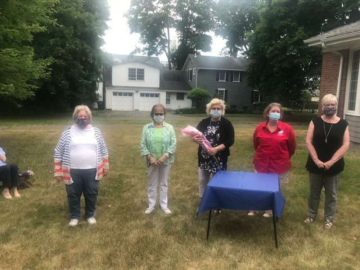Milford's Freelove Baldwin Stow Chapter of the Daughters of the American Revolution (DAR) held its induction ceremony for the 2020-22 officers June 18in the back yard of the DAR Chapter House on 55 Prospect Street, Milford.