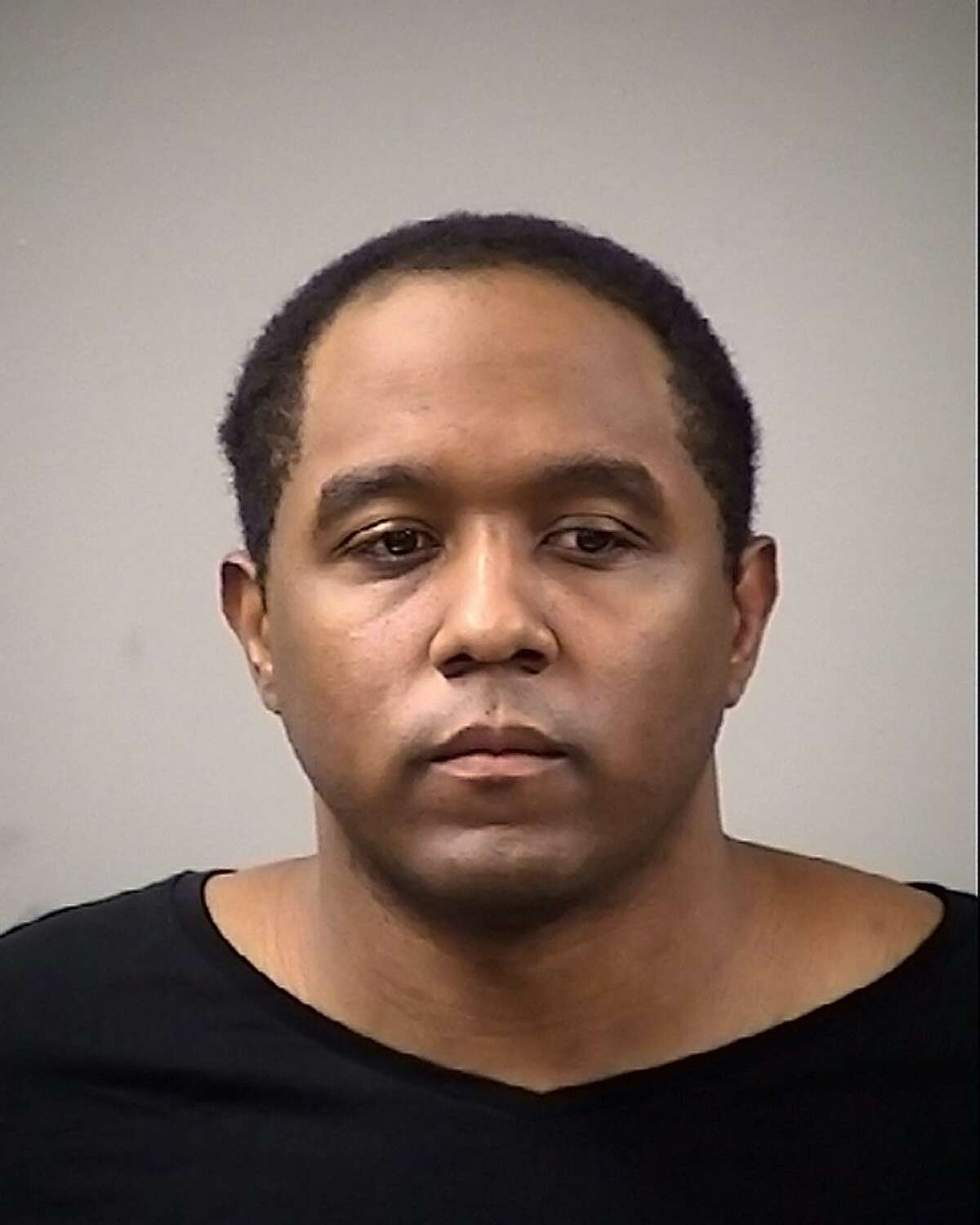 Booking mug (date unknown) of Antronie Scott, 36, who was shot to death by a San Antonio police officer Feb. 5, 2016.