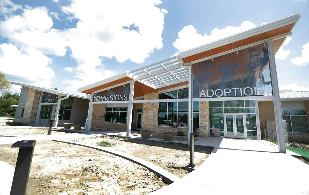 Exterior of the new Harris County Pets building, which is nearing completion, Friday, July 31, 2020, in Houston.
