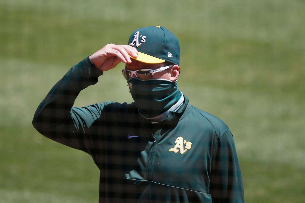 OAKLAND, CALIFORNIA - JULY 29: Manager of the Oakland Athletics Bob Melvin #6 looks on before the game against the Colorado Rockies at Oakland-Alameda County Coliseum on July 29, 2020 in Oakland, California. (Photo by Lachlan Cunningham/Getty Images)