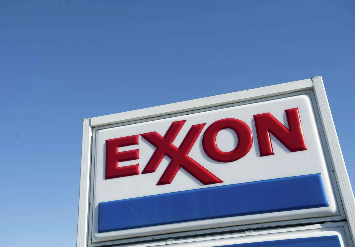 In this file photo taken on January 5, 2016, an Exxon gas station is seen in Woodbridge, Virginia.