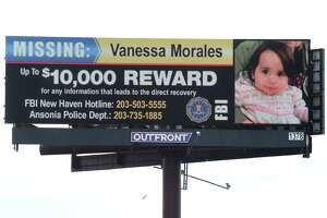 An electronic billboard advertises a reward of up to $10,000 for information leading to the direct recovery of Vanessa Morales to travelers on southbound I-91 in New Haven on March 3, 2020. The search for Vanessa Morales will reach eight months on Sunday.