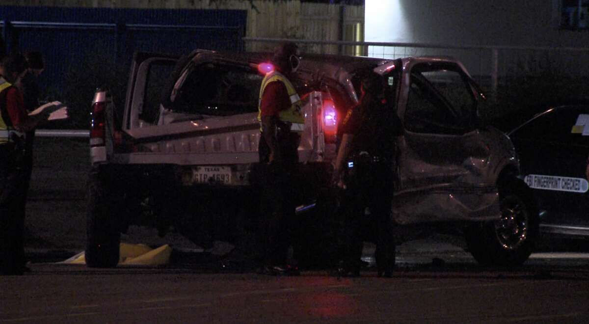 According to SAPD, a man driving a pickup truck died after crashing into a taxi cab and SUV on the Northwest Side late Friday night.