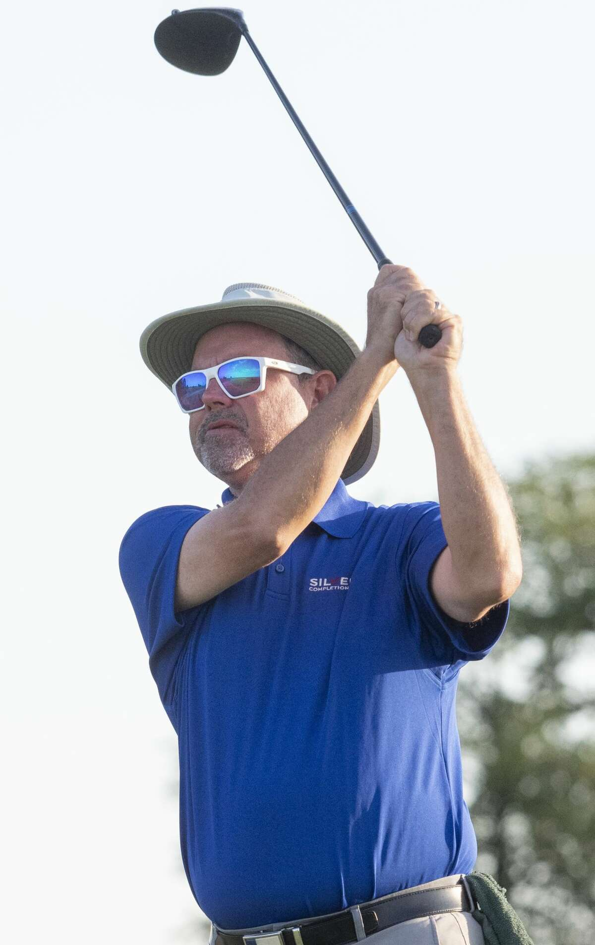 Rick Houston follows his shot 08/01/2020 during the second round of the Midland Men's City Golf Championship at Hogan Park Golf Course. Tim Fischer/Reporter-Telegram