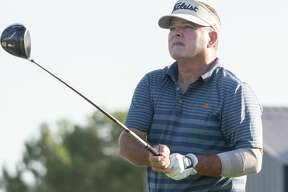 Steve Whiteside follows his shot 08/01/2020 during the second round of the Midland Men's City Golf Championship at Hogan Park Golf Course. Tim Fischer/Reporter-Telegram