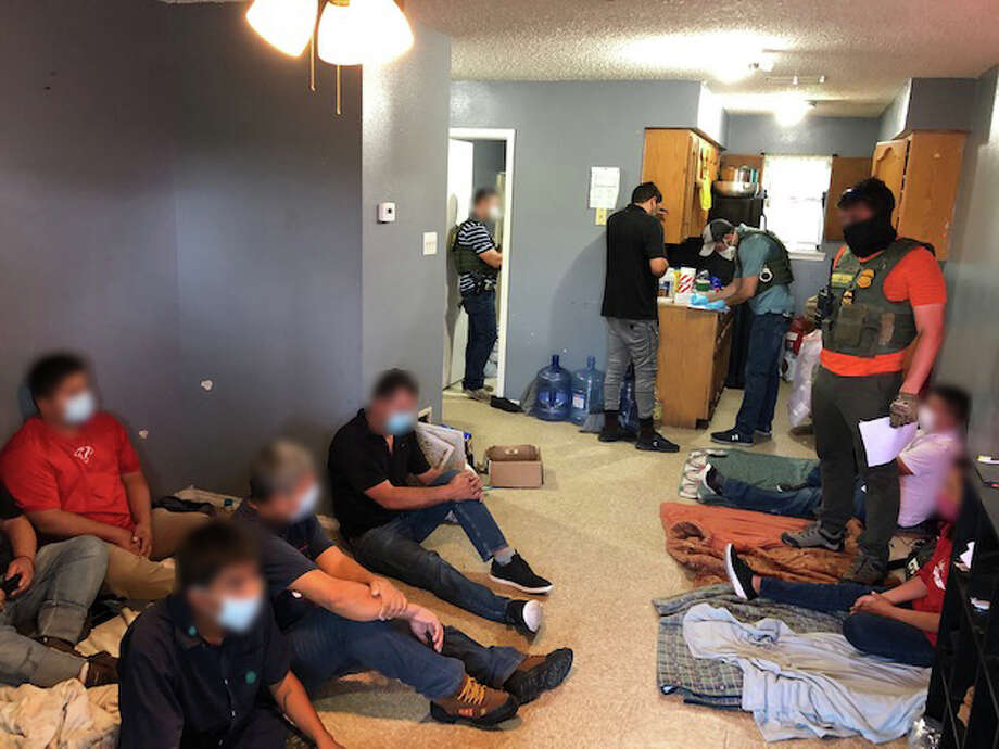 Local, state and federal authorities busted two stash houses located within the same property in the 3900 block of Santa Isabel Avenue. Authorities detained 51 immigrants who had crossed the border illegally. Photo: Courtesy