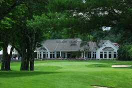 A view of the 18th green at Ridgewood Country Club in Danbury.