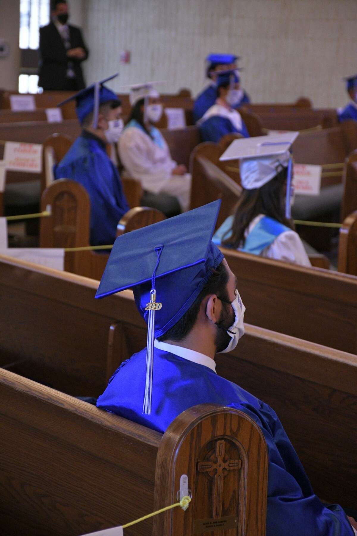 The graduating Class of 2020 from Saint Augustine High School held their graduating ceremony at St. Patrick's Catholic Church, Saturday, August 1, 2020. Bishop James A. Tamayo officiated a Mass in their honor.
