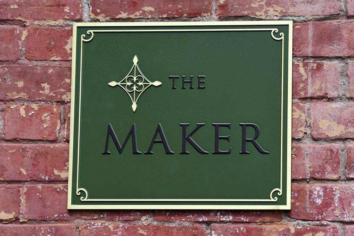 Exterior sign at The Maker Hotel on Thursday, July 30, 2020, on Warren Street in Hudson, N.Y. The new hotel from Fresh co-founders Lev Glazman and Alina Roytberg is schedule for limited opening on August 6. (Will Waldron/Times Union)