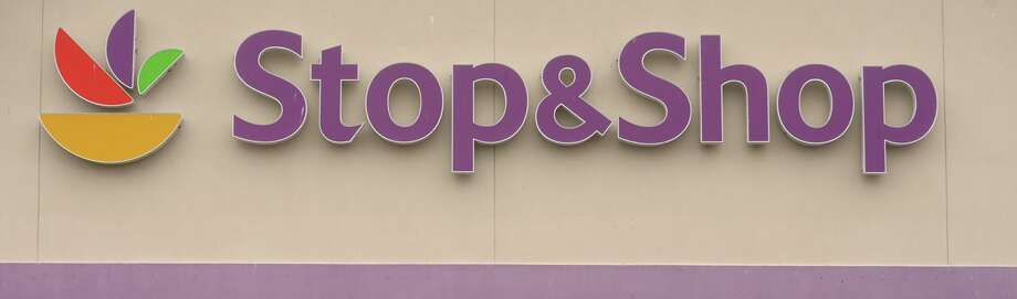 File photo of the Stop & Shop sign at one of the store in Bridgeport, Conn., taken on April 11, 2019. Photo: Ned Gerard / Hearst Connecticut Media / Connecticut Post