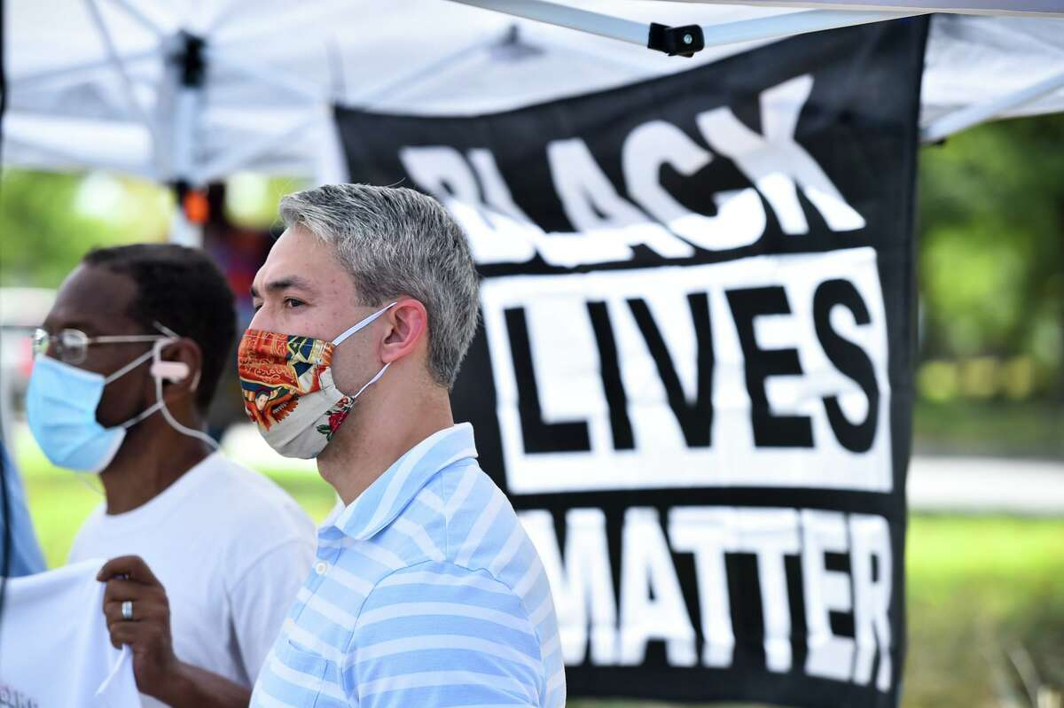Mayor Ron Nirenberg on Sunday, Nov. 8, 2020, denounced flyers distributed by a self-proclaimed white supremacist group to homes on the North Side.