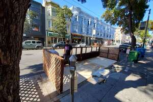 Toronado was in the process of building a parklet in front of its bar this past week, in preparation to welcome back customers.