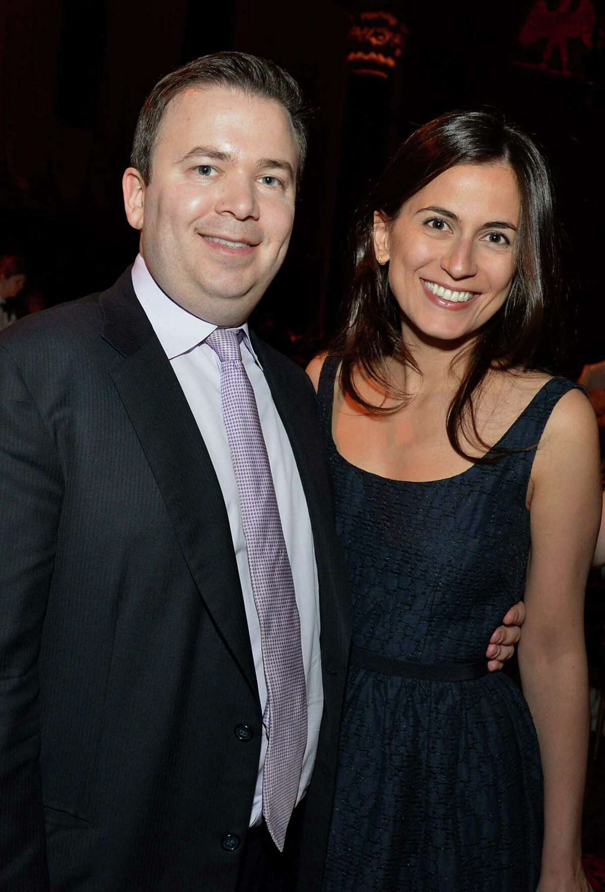 Boaz Weinstein, managing partner and founder of Saba Capital Management, and wife Tali Weinstein, a prosecutor with the U.S. attorney's office, during the Paris Review Spring Revel gala in New York on April 3, 2012.
