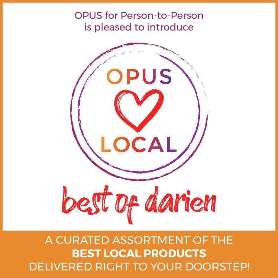 Opus for Person-to-Person is offering boxes of popular items from Darien businesses to benefit Person-to-Person through Aug. 11. Photo: Contributed Photo