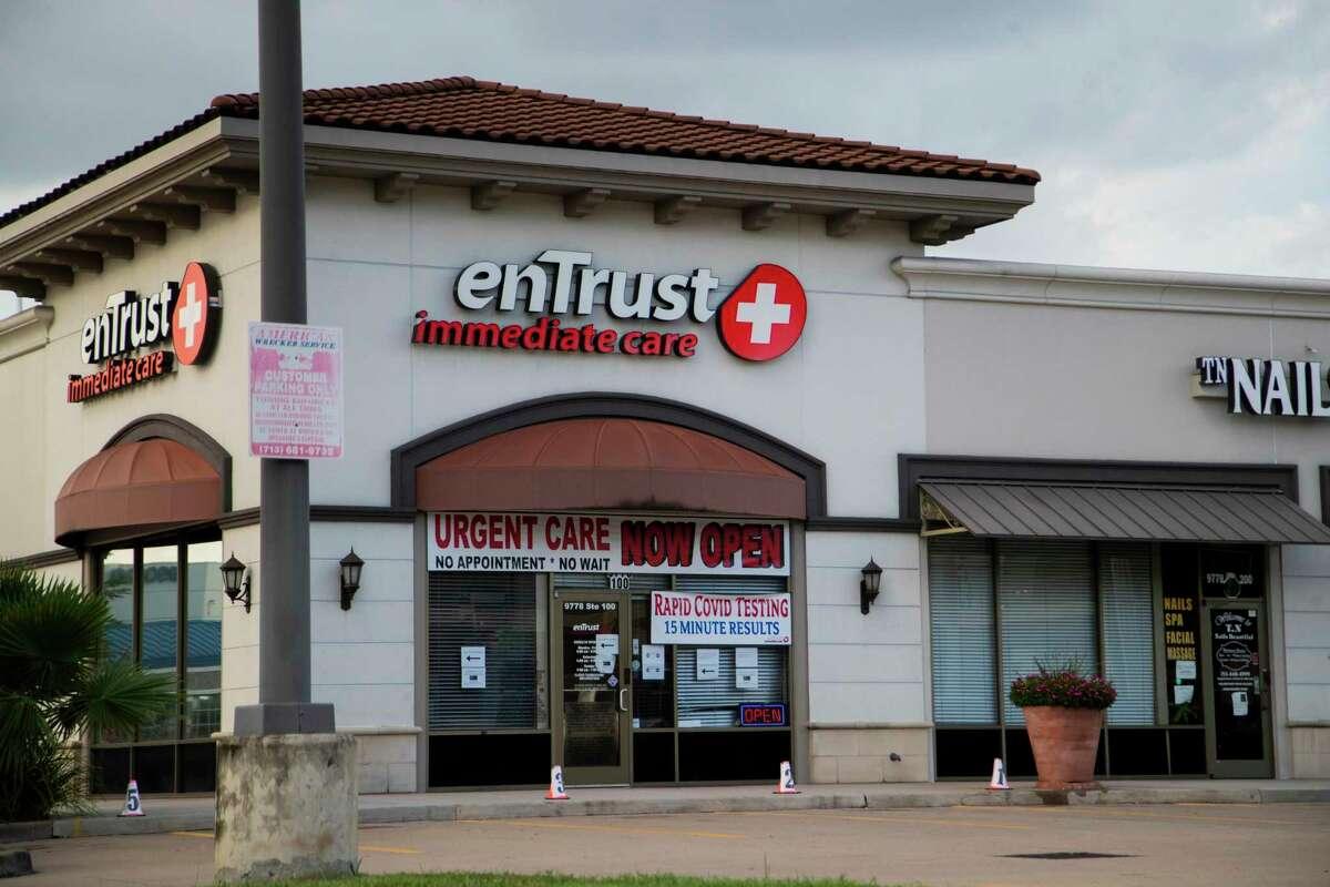 EnTrust immediate care clinic on 9778 Katy Freeway on Friday, July 31, 2020, in Houston.