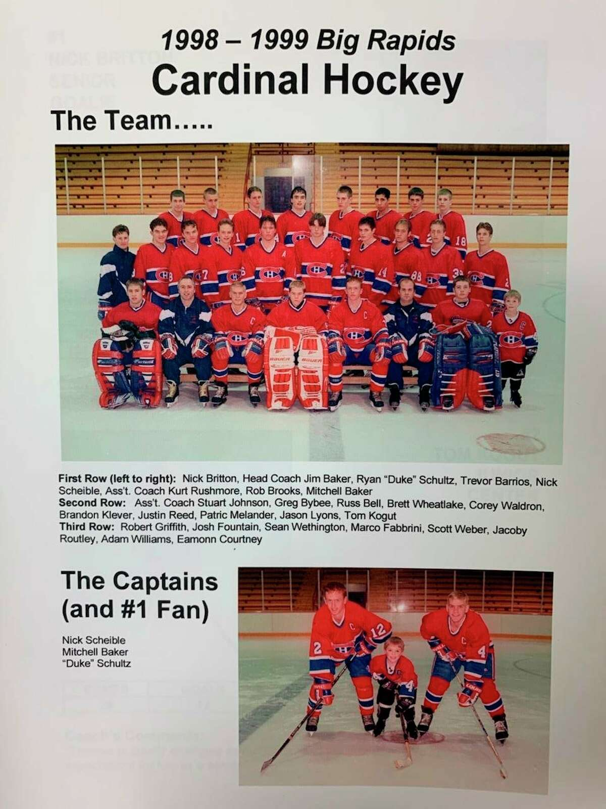 The Big Rapids Cardinals were Class B-C-D runners-up in 1999. (Courtesy photo)