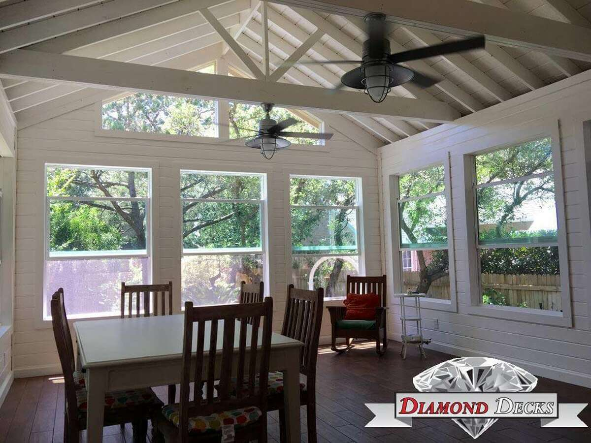 A screened-in porch can capture natural light and conserve energy while offering a livable space.