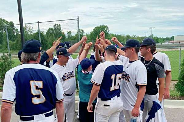 The Manistee Saints were crowned champions of the COVID-19 World Series Tournament after going 3-0 in Grand Rapids over the weekend. (Courtesy photo)