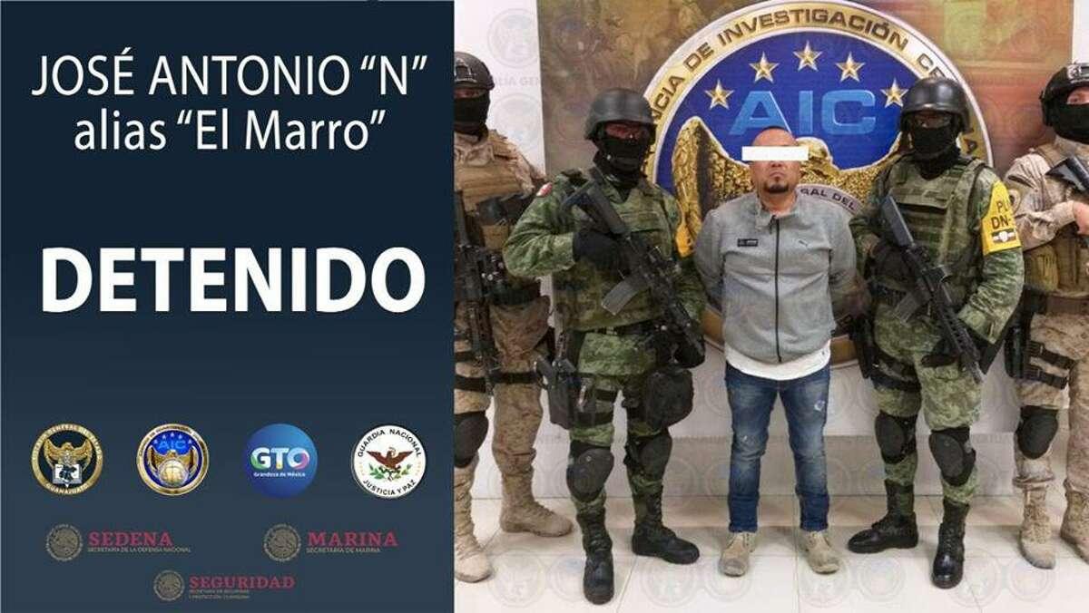 """José Antonio Yépez Ortiz, alias """"El Marro"""", a quien se le señala de ser un narcotraficante y """"huachicolero"""", líder del Cártel de Santa Rosa de Lima, fue detenido la madrugada del domingo 2 de agosto. (Foto de la Fiscalía del estado de Guanajuato) (Gobierno del estado de Guanajuato)"""