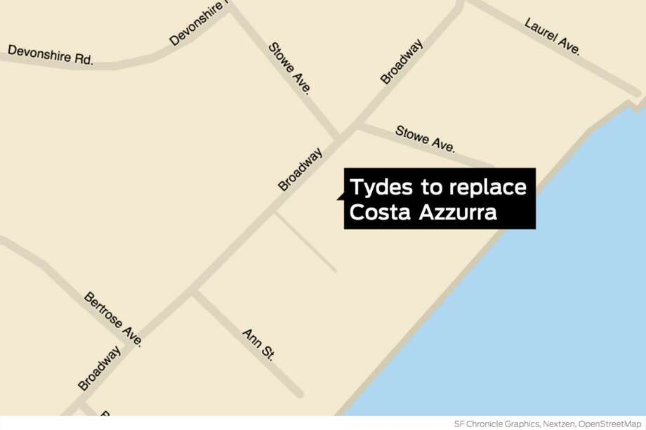Tydes, a new catering facility, will replace Costa Azzurra at 72 Broadway in Milford. Photo: John Kovach / Hearst Connecticut Media / Milford Mirror