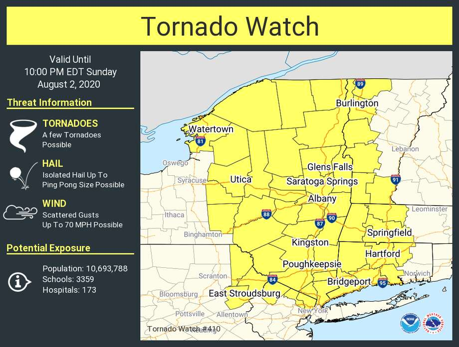 National Weather Service issues tornado watch. Photo: NWS