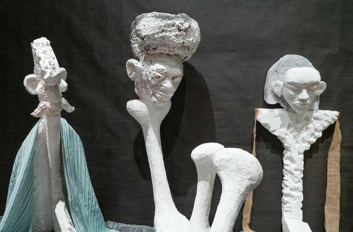 Lin May Saeed, Seven Sleepers, 2020. Polystyrene foam, acrylic paint, mixed media. Detail. Photo Wm Jaeger