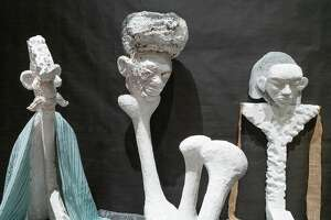 Lin May Saeed, Seven Sleepers, 2020. Polystyrene foam, acrylic paint, mixed media. Detail. Photo Wm Jaeger