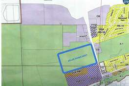 Keller Farms West on a map of western Glen Carbon.