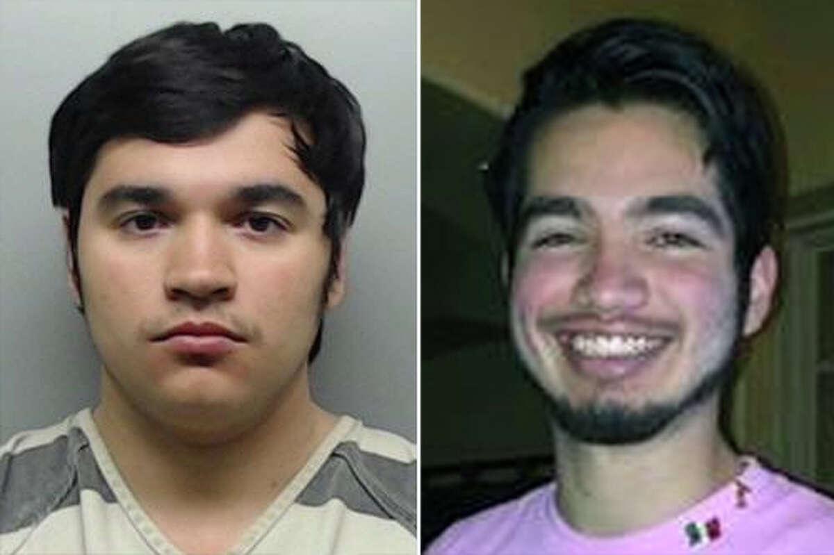David Romeo Garza Jr., left, is accused of shooting fatally shooting Jose Eduardo Salinas Jr., right.