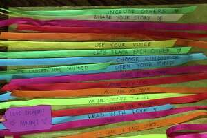 Children's wishes for inclusivity were placed on ribbons