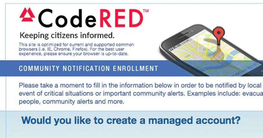 During storms and emergencies, the Wilton first selectwoman and other town officials will send messages to town residents via the CodeRed notification system. Photo: Contributed Photo
