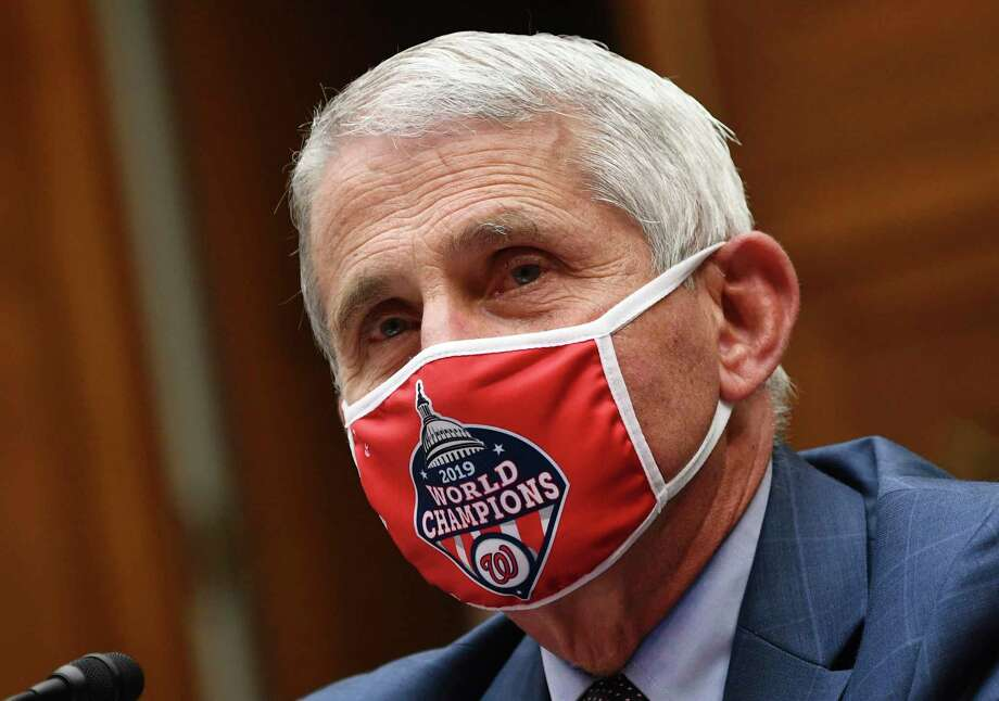 Dr. Anthony Fauci, director of the National Institute for Allergy and Infectious Diseases, testifies during a House Subcommittee hearing on the Coronavirus crisis, Friday, July 31, 2020 on Capitol Hill in Washington. (Kevin Dietsch/Pool via AP) Photo: Kevin Dietsch / Associated Press / UPI