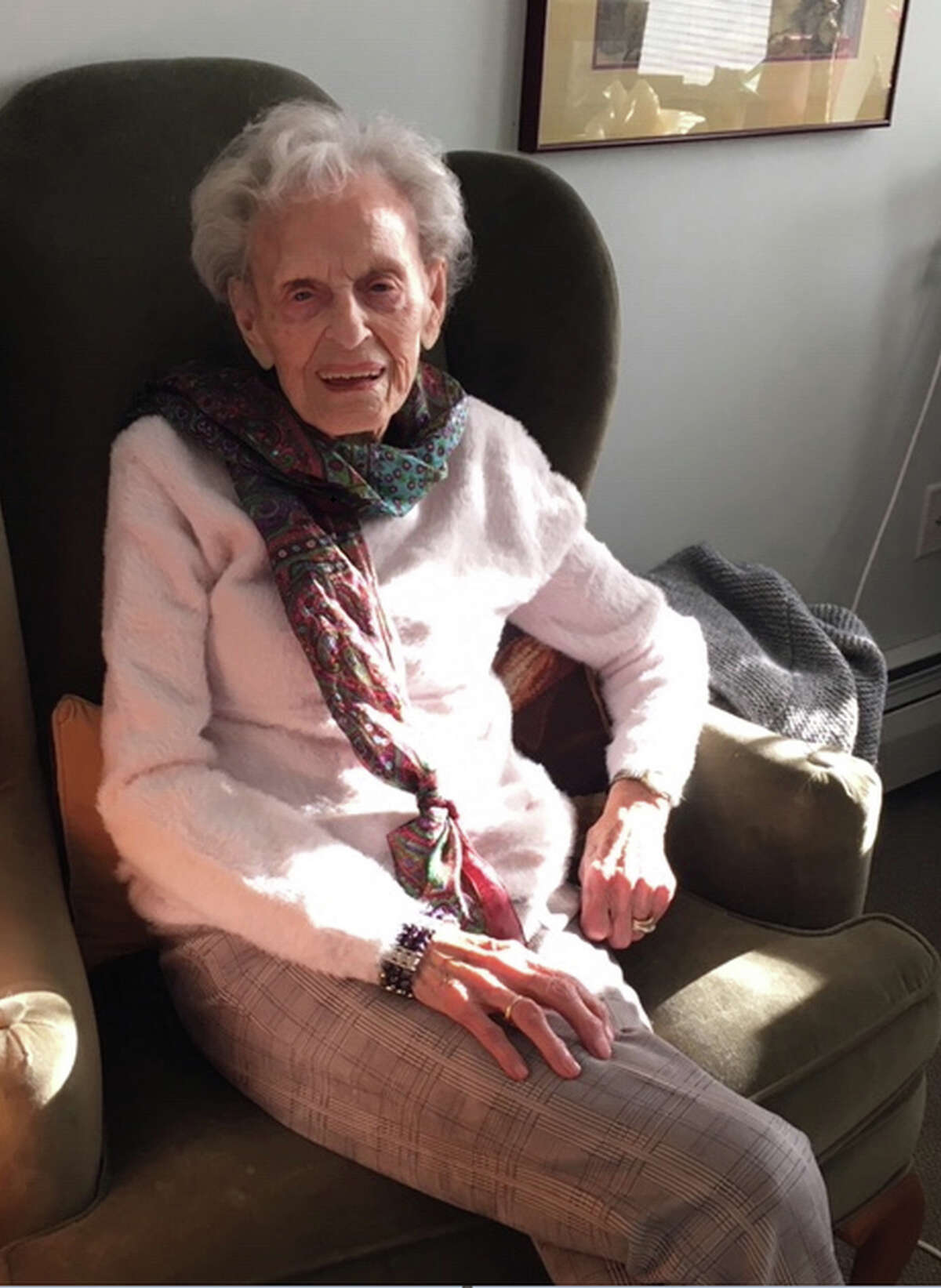 Gerri Schappals, 102, who survived covid-19 and the 1918 flu pandemic.