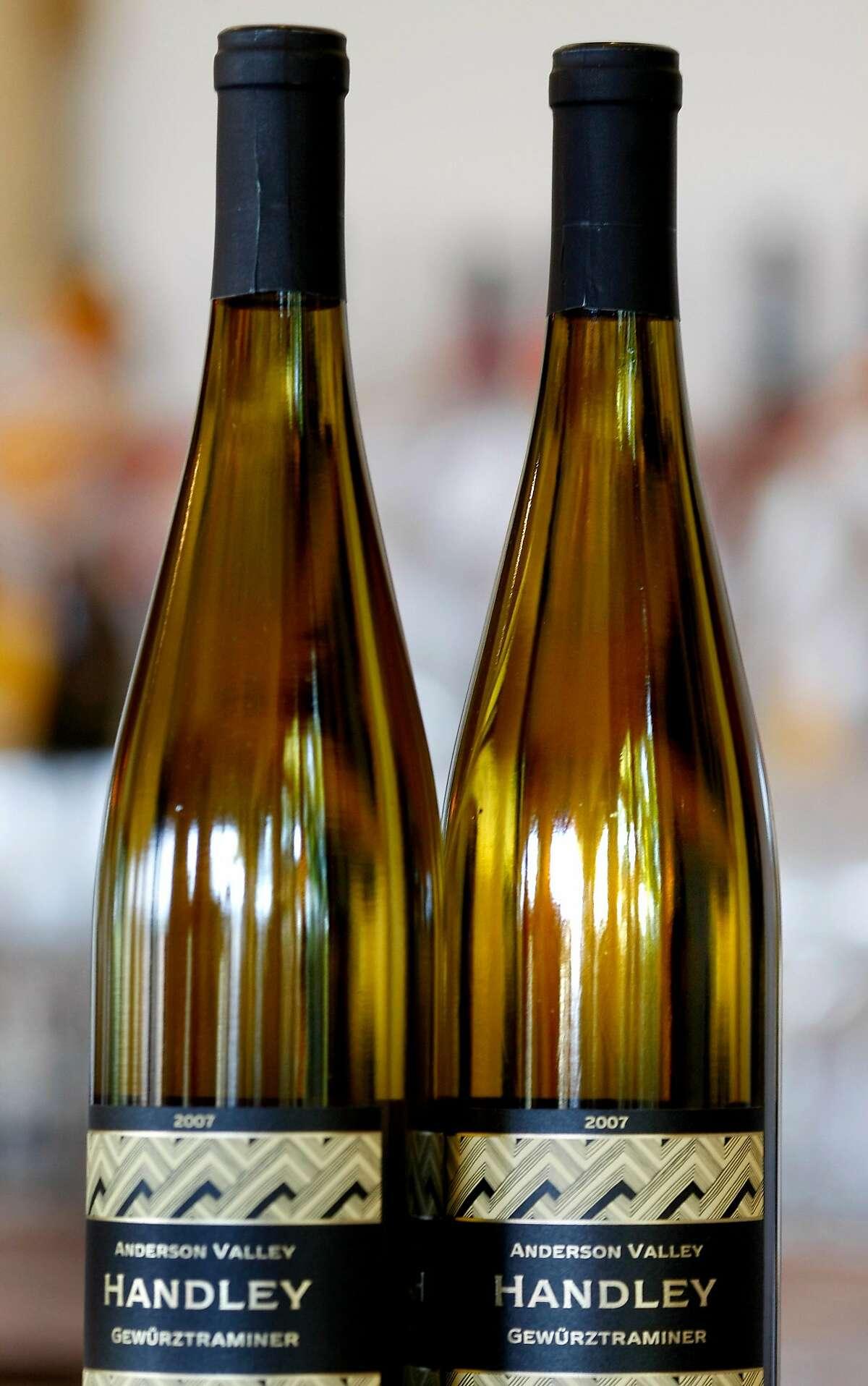 The distinctive Gewurztraminer of Handley Cellars is a popular varietal that is very dry. Milla Handley is the winemaker for Hanley Cellars off highway 128 in the Anderson Valley of Mendocino County.