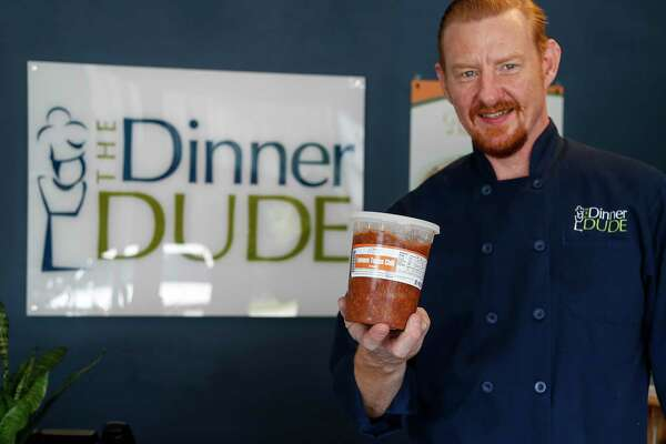 """Mark Zoch grew up watching his mother struggle with weight and related health issues. Now, he's created a business helping others lose weight called """"the Dinner Dude."""" he works with a health coach to create personalized plans, then offers 28-days of meals to teach people how to eat, help them build a strong foundation of health. Photographed at The Dinner Dude, Friday, July 31, 2020, in Houston."""