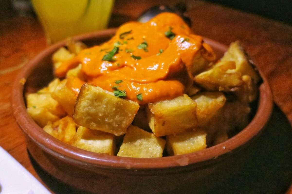 Patatas bravas served at Duende in Oakland.Chef-owner Paul Canales announced that he would temporarily close the Spanish restaurant amid the ongoing pandemic.