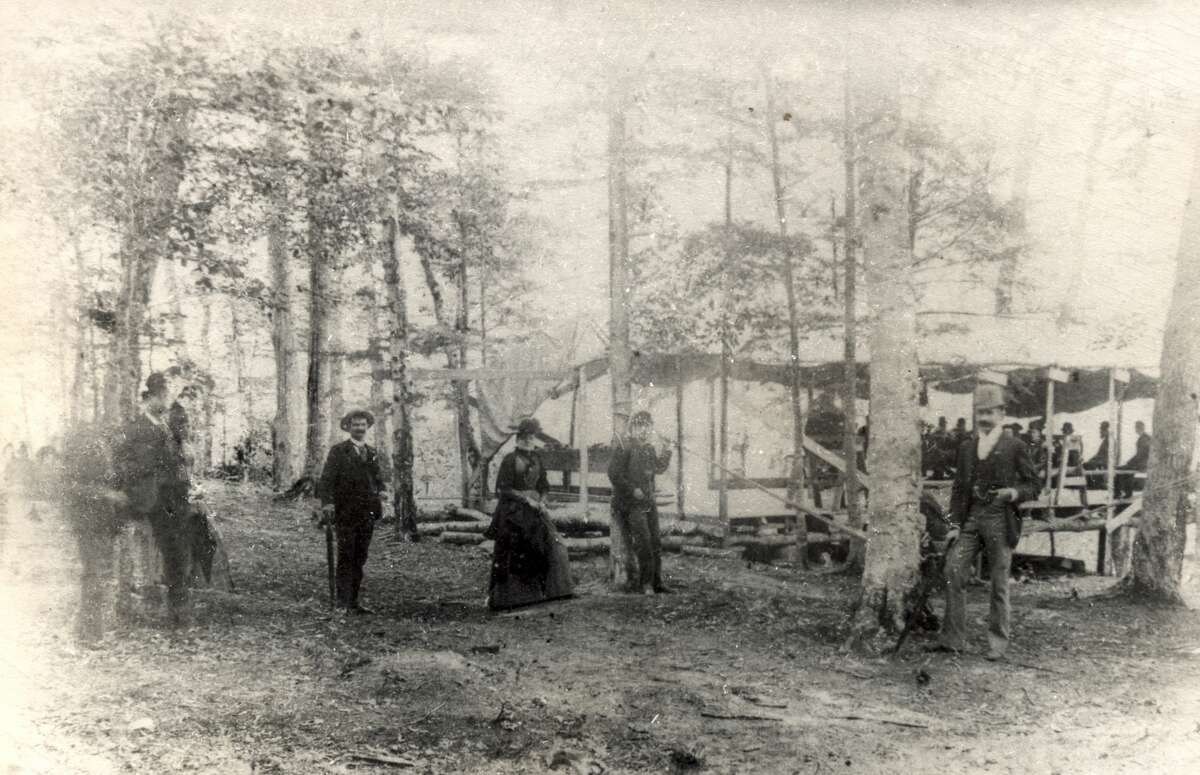 A bowery, as the picnic grounds in the woods were known, located near Newland.