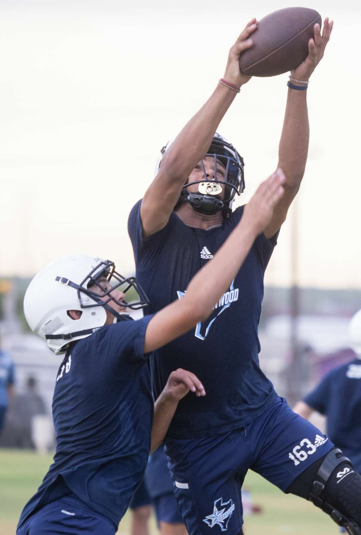 Greenwood football players run drills 08/03/2020 during the first day of two-a-day practices. Tim Fischer/Reporter-Telegram