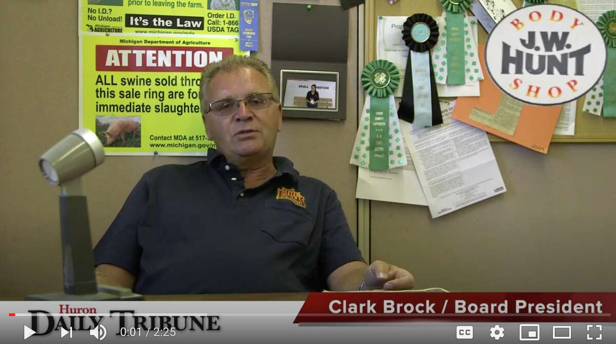 Clark Brock, Huron Community Fair Board President