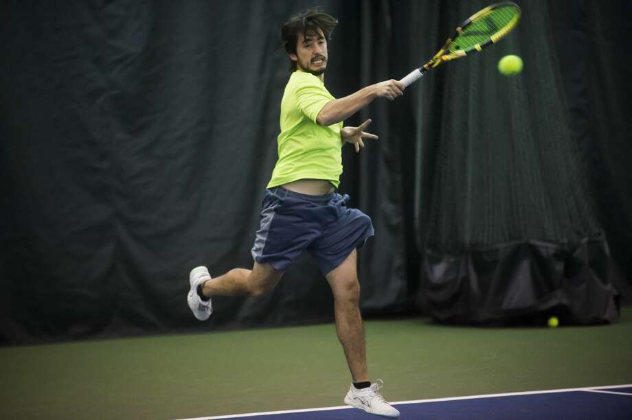 Midland's Juan Guerra competes in the World Team Tennis Tournament at the Greater Midland Tennis Center on Jan. 11, 2020. Photo: Daily News File Photo