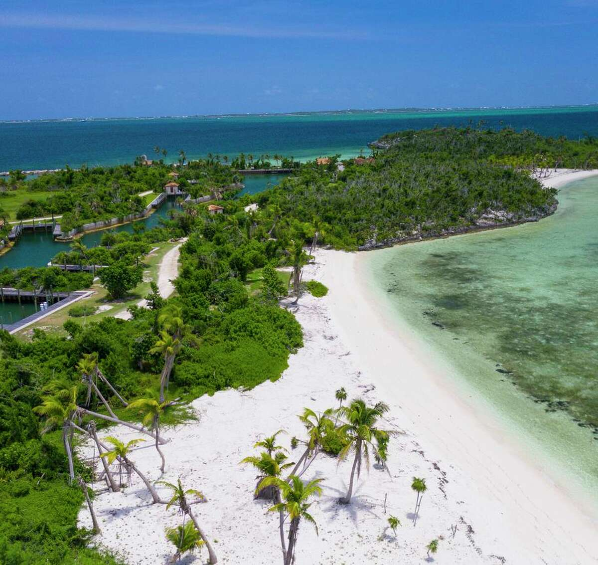 Montage Cay, a luxury resort that will be completed in 2023, will rest along the Sea of Abaco in the Bahamas.