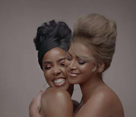 """2.  Beyonce and Kelly Rowland, better known as our favorite duo (or one of them anyway). We have to appreciate how Beyonce, a woman of """"few words"""" as some would say, always manages to show up for Kelly Rowland. The two were a part of the original Destiny's Child and managed to remain throughout all of the group's changes. It's a beautiful sight to see, especially in a film that aims to empower the Black community as a whole."""