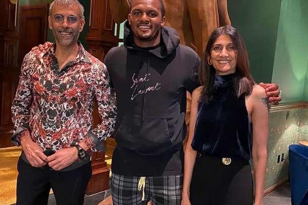 Deshaun Watson and Musaafer owners Mithu and Shammi Malik.