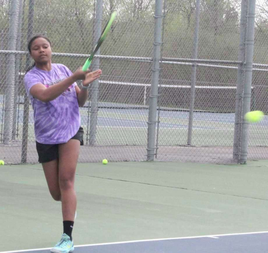 Big Rapids class of 2020 tennis player Eden Short is ready to continue her career on the court at Ferris State University. (Pioneer file photo)