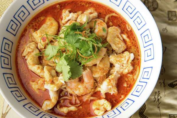 Phat Eatery in Katy is expanding its operations by joining Cloud Kitchens' Blodgett Food Hall, a ghost kitchen concept in Houston's Third Ward. Phat Kitchen will be able to offer its Malaysian street food menu (including dishes such as curry laksa, shown) from this facility that features multiple food service businesses under one roof.