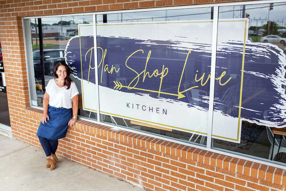 Owner Susan Smith poses with her new venture, Plan Shop Live Kitchen, in Maryville. The new, fresh food eatery opened July 28. Photo: Courtesy Of Susan Smith