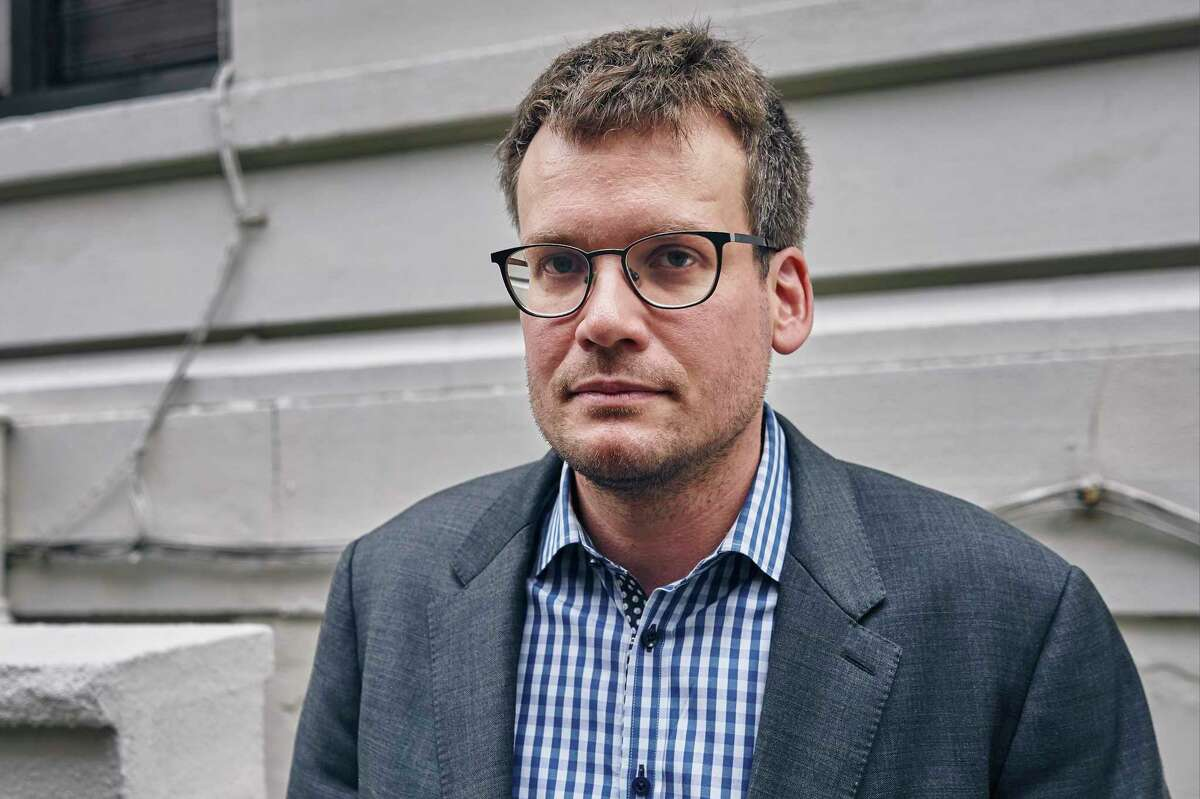 Best-selling young adult novelist John Green in New York, Oct. 9, 2017. In his new book, A?'Turtles All the Way Down,A?
